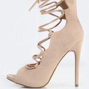 Shoe Republic LA Allie Suede Lace Up Heels